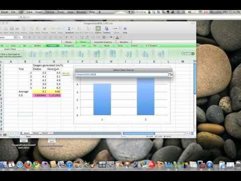 Excel for Mac 2008: make a vertical bar graph