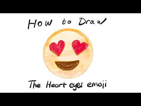 How to Draw the Heart Eyes Emoji 😍