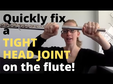 How to fix a tight flute headjoint with candle wax