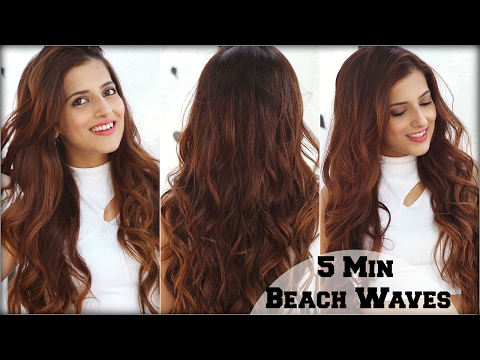 How To: 5 Min Voluminous Beachy Waves Hair Tutorial Using A Curling Wand For Medium To Long Hair