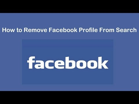 How to Remove Facebook Profile From Search Results