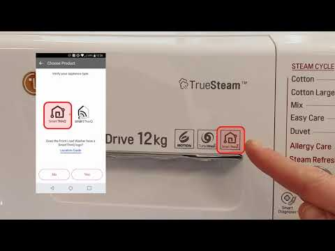 Smart ThinQ How to register a WiFi enabled LG washing machine