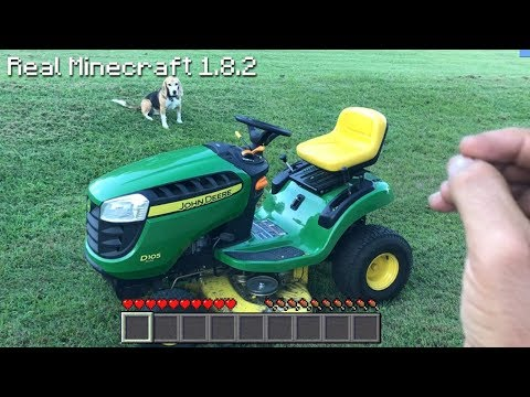 Real Life Minecraft - MOWING LAWN & PUPPIES