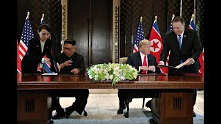 Hier unterzeichnen Trump und Kim die historische Vereinbarung