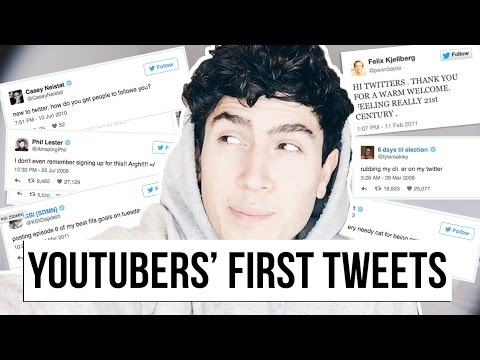 YOUTUBERS FIRST EVER TWEETS! Casey Neistat, Tyler Oakley, Amazing Phil