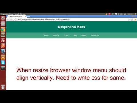 Responsive Navigation  Menu Bar | HTML, CSS & JQuery
