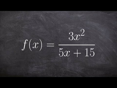 How to find the domain of a rational equation