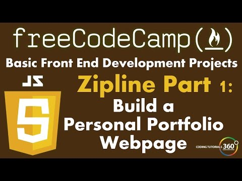 Build a Personal Portfolio Webpage Part 1: FreeCodeCamp.com Development Projects