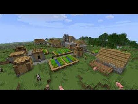 Huge NPC VILLAGE Minecraft (xbox 360) (Old Seed)