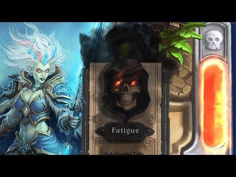 [Hearthstone] Insane Fatigue Mage VS Jade Druid Game