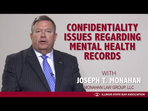 Confidentiality issues regarding mental health records