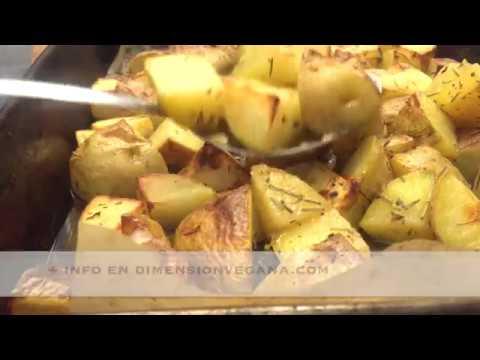 Patatas al horno super rapidas (crujientes por fuera, cremosas por dentro)