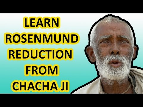 SUPER TRICK TO LEARN ORGANIC CHEMISTRY REACTIONS | ROSENMUND REDUCTION | HINDI