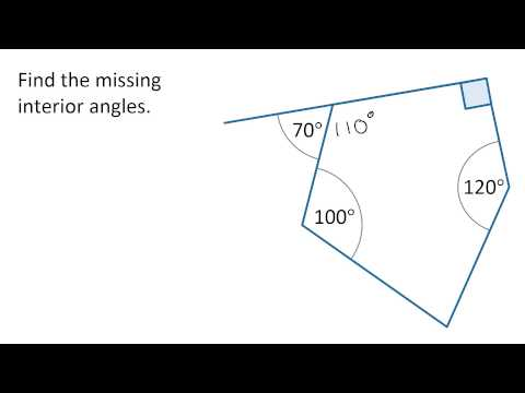 Year 8: Finding missing angles in a polygon