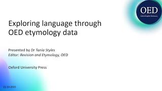 Exploring language through OED etymology data