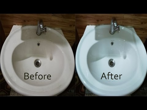 How To Clean Wash Basin - Remove Hard Water Stains Naturally