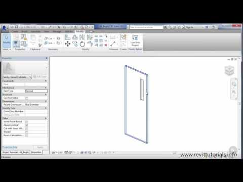 Revit Door Family tutorial #4 - Creating a Vision Door Panel