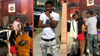 More Footage Of NBA YoungBoy Confronting Group Of Guys On Boardwalk In LA Wit Never Broke Again Crew
