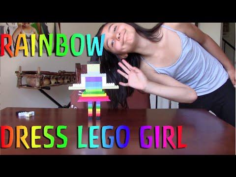 Rainbow Dress Lego Girl