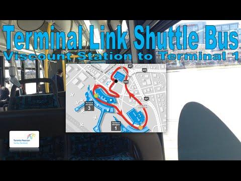 Terminal Link Shuttle Bus - GTAA 2009 Nova Bus LFS 85-0927 (Viscount Station to Terminal 1)