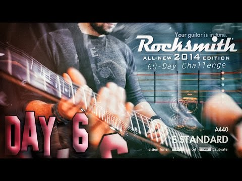 ROCKSMITH 2014 - BEGINNER LESSONS - LEARNING THE GUITAR! DAY #6