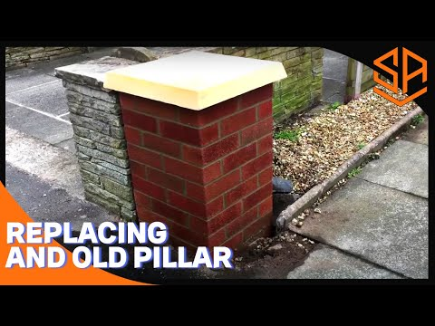Bricklaying with Steve and Alex. GARDEN WALL PART 2 EXTRA PILLAR BUILD
