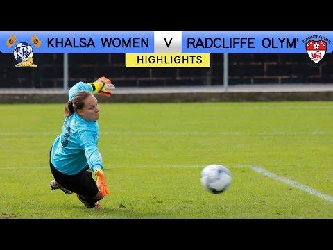 Khalsa Women 4 - 1 Radcliffe Olympic | Extended Highlights | FA Women's Premier League 2016/17