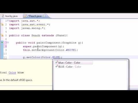 Java Programming Tutorial - 84 - Drawing Graphics