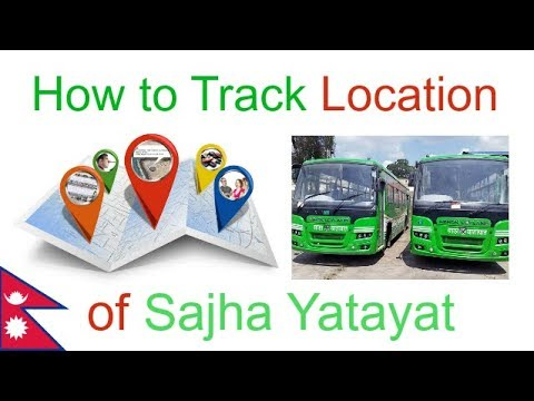 How to track location of Sajha Yatayat Bus