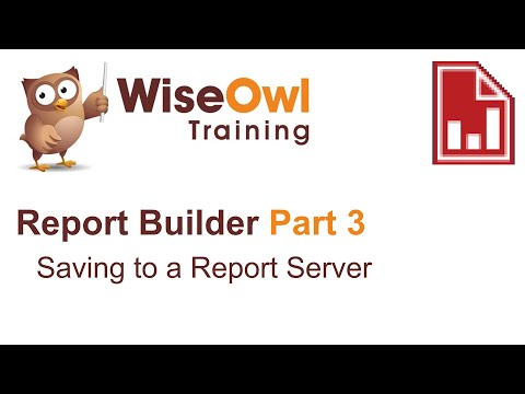 Report Builder 2016 Part 3 - Saving to a Report Server