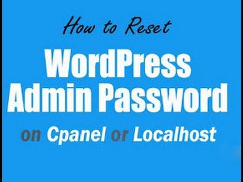 How to reset WordPress Admin password in Cpanel
