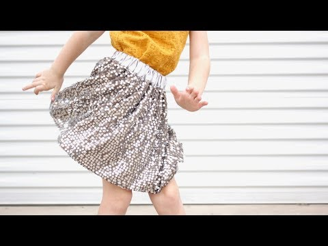 How to Sew a Sequin Skirt, with a lining