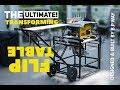 The ULTIMATE steel flip top cart - for DeWalt flexvolt tablesaw & chopsaw