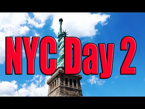 New York City Day 2 | Statue of Liberty, Ellis Island ,M&M Store, Rays Pizza