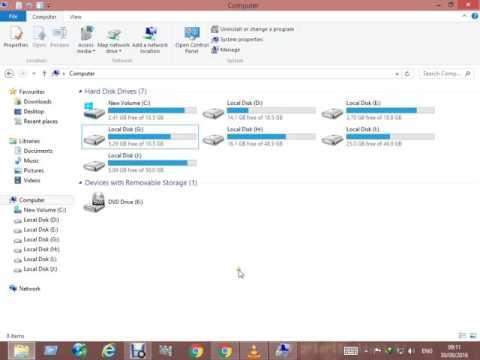 How To Hide A Drive In Windows 7/8/10/ Urdu/Hindi