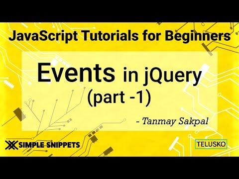 #39 Events in JQuery Part 1