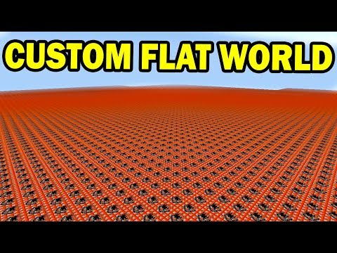 How To Make CUSTOM SUPERFLAT WORLDS in Minecraft Pocket Edition 1.2 Update!!!