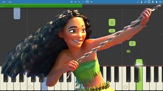 How to play We Know The Way - EASY Piano Tutorial - Moana Soundtrack