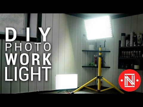 Cheap LED Photo/Work Light Panel Under 20$! || DIY lighting