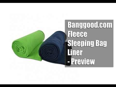 Banggood.com Fleece Sleeping Bag Liner - Preview