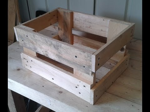 How To Make a useful Storage crate out of an old wood pallet