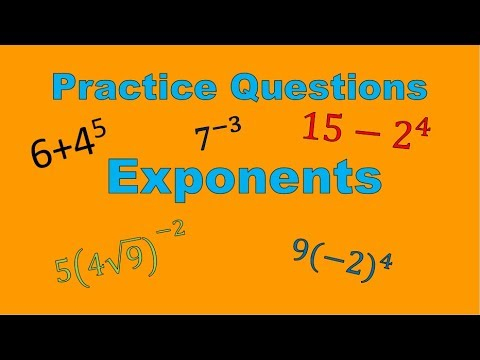 Positive & Negative Exponent Practice Questions (Simplifying Math)