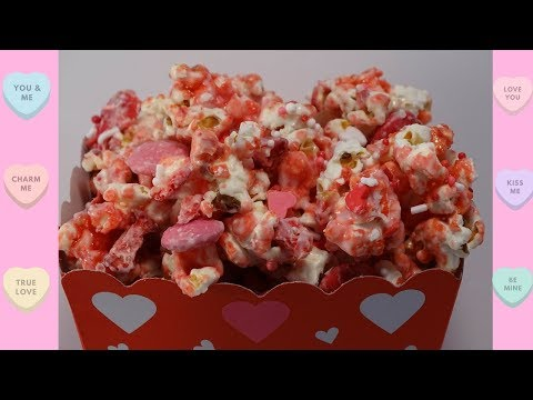 Strawberries and Cream Popcorn for Valentine's Day - with yoyomax12