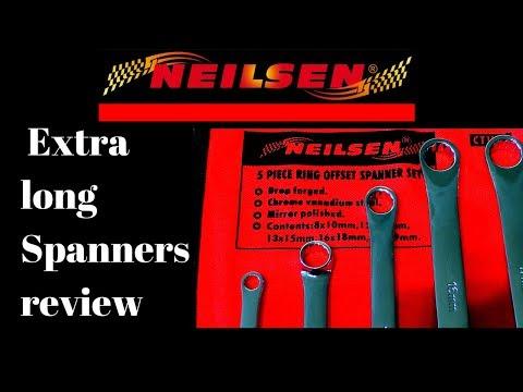 Neilsen Extra Long Flat Ring Spanner Set review