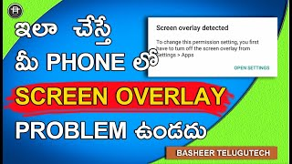 How to turn off screen overlay detected in Xiaomi redmi 3s