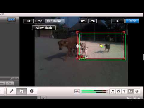 How to use ken burns and transitions on iMovie