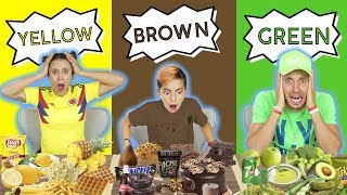 LAST TO STOP EATING THEIR COLOR FOOD WINS $10,000! *CHALLENGE*   The Royalty Family