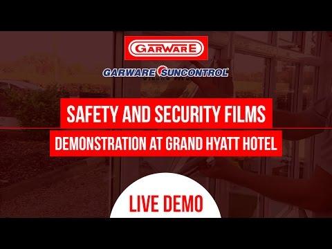 GARWARE WINDOW GLASS SAFETY FILM TEST - AT GRAND HYATT HOTEL MUMBAI