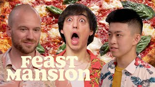 Download Joji and Rich Brian Make Pizza and Hot Sauce with Sean Evans (Part 1) | Feast Mansion Video