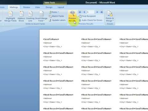 Create Printable Labels With Microsoft Word  2007